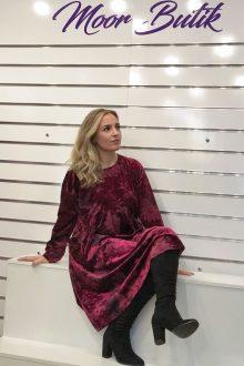 Bordo kadife İtalyan elbise